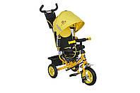 Велосипед 3-х колесный MiniTrike 950D надувные колеса (желтый/черный)