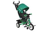 Велосипед 3-х колесный MiniTrike 950D надувные колеса (зеленый/черный)