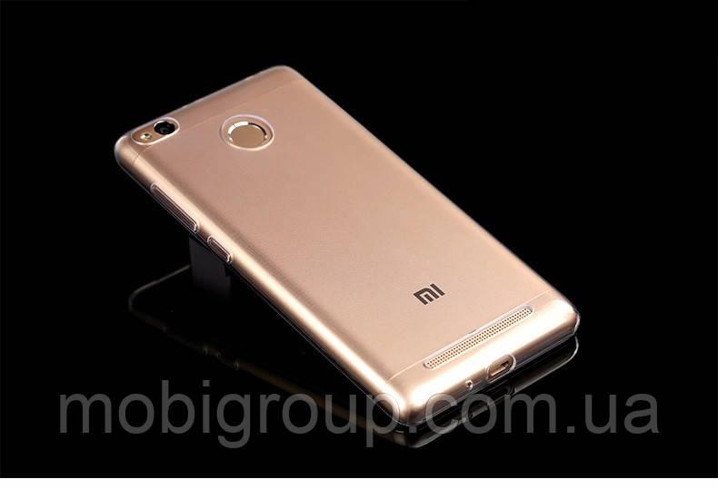 Чехол силиконовый прозрачный для Xiaomi Redmi 3S, 0.5mm