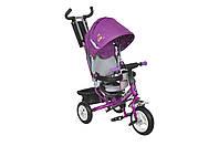 Велосипед 3-х колесный MiniTrike 950D надувные колеса (фиолетовый/серый)
