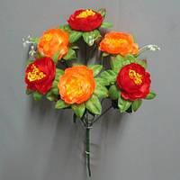Роза камелия (6 голов) букет искусственный