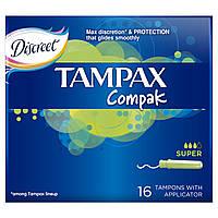 Тампоны Tampax Compak Super с апликатором 16 шт.