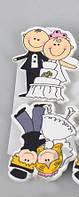 Декоративная Прищепка Свадьба 4*3 см Мелкий декор