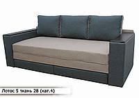 """Диван """"Лотос 5+ """" в ткани 4 категории (ткань 28) 2 открывных подлокотника, фото 1"""