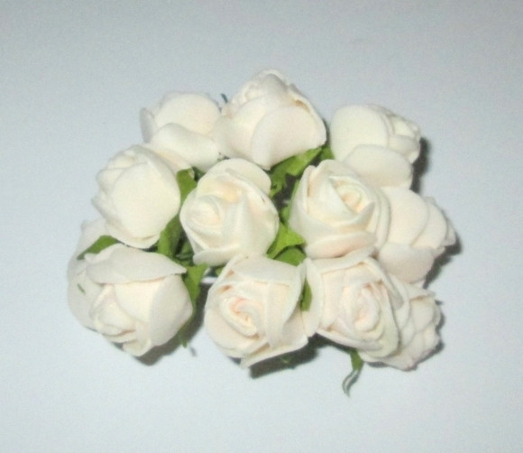 Трояндочки латексні 10*2,5 см, кремові