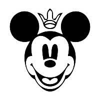 Виниловая наклейка-Мики (корона) (от 15х15 см)