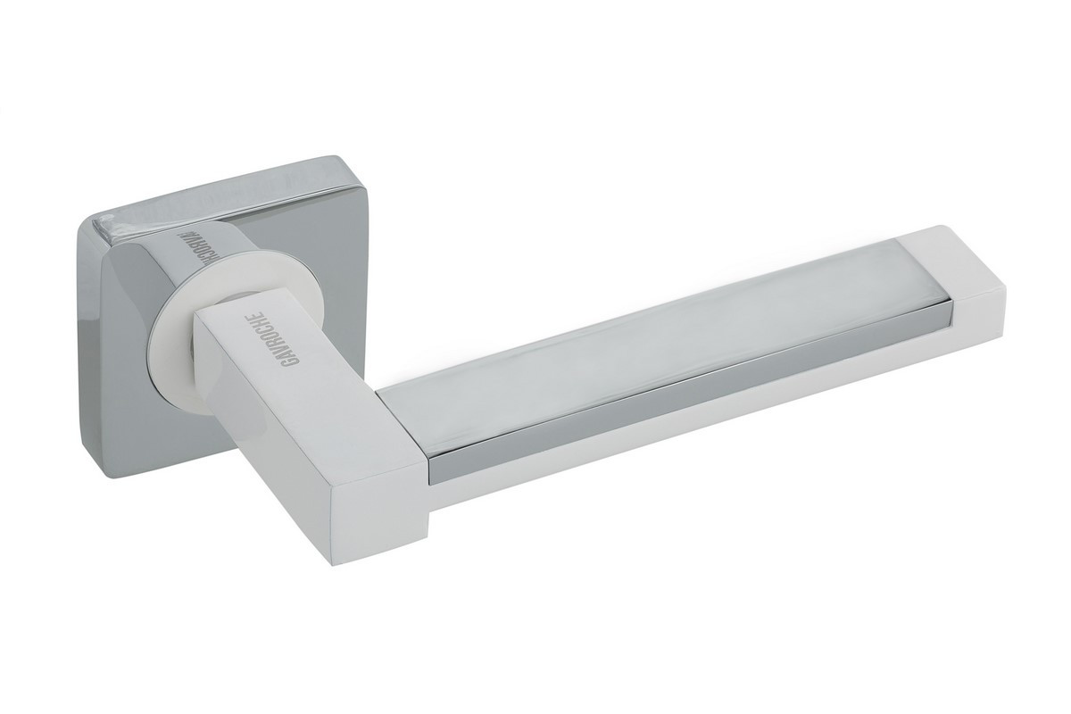 Ручка раздельная Gavroche - Platinum w/cp (полярно-белый - сатин)
