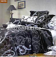 Комплект постельного белья двуспальный черно-белое