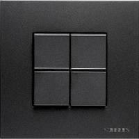 Выключатель двухклавишный проходной + рамка. ABB Zenit