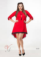 Платье туника свободного кроя кружево