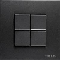 Выключатель двухклавишный + рамка. ABB Zenit