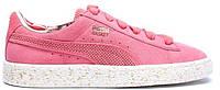 Женские кроссовки Puma Basket Classic Cargo X Rose Pink (Пума замшевые) розовые