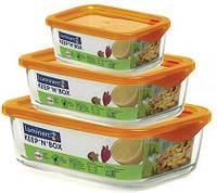 Набор емкостей для пищи 3шт. Keep'n'Box Luminarc 5102j
