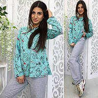 Пижама женская двойка ,ткань трикотаж, 3 расцветки ,супер качество вч № 363
