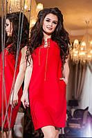 Платье полу батал красное