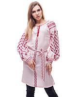Сукня «Пелюсткова» льон рожева