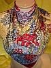 Платок двусторонний с разноцветными цветами , фото 2