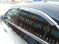 Дефлекторы окон для Hyundai Sonata 2010 -  Хром молдинг