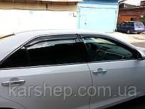 Ветровики с хром молдингом Toyota Camry V50 2011-