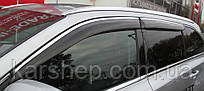 Ветровики для Volvo XC90 2003 - Хром молдинг
