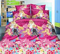 Постельное белье в кроватку Мир Барби (ранфорс)