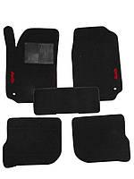 Автоковрики в салон для Audi 100 /A6 '91-97 текстильные, черные [22141]
