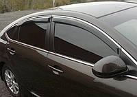 Дефлекторы окон с хромом Hyundai Accent 2010 -