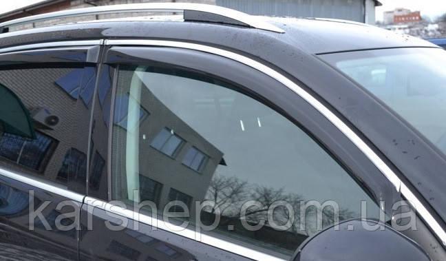 Дефлекторы окон на Lexus LS 2000-2006 С Хром молдингом - фото 1