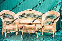 """Комплект плетеной мебели из лозы""""Капля"""""""