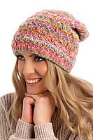 Двойная разноцветная женская шапка Pati, Польша.