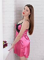 Женская красивая ночная рубашка с нежным кружевом. S,M,L