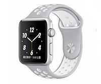 Спортивный ремешок для Apple Watch 38mm/110mm - Silver-White
