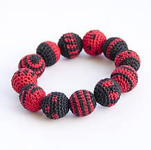 Браслет Ярмирина «Celebration» коллекционный, чёрный/красный