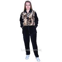 Спортивный костюм женский велюровый с удлиненной курткой