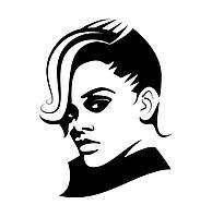 Виниловая наклейка-  Девушка 2 (от 15х15 см)