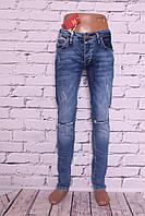 Мужские джинсы с прорезями на коленях Mario (Код: 2123)