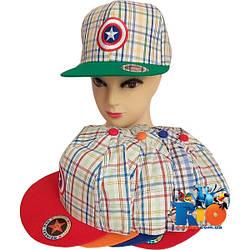 Детская летняя кепка арт.27 (вышивка) , для  мальчика (р-р 52-54)