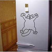 Виниловая наклейка на холодильник ( Кот Саймона) (от 15х15 см)