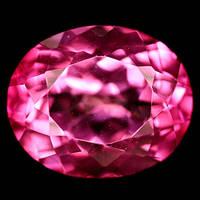 Натуральный бразильский розовый мистический топаз