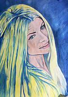 Портрет масляными красками по фото на холсте уникальный подарок любимой девушке
