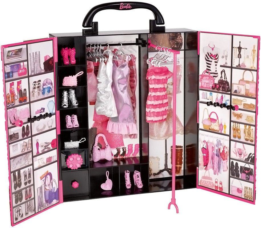 Barbie Fashionistas Ultimate Closet ( Шкаф-чемодан для одежды Barbie Модница Mattel X5357 )