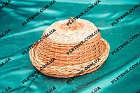 Хлебница из крышкой плетена из лозы