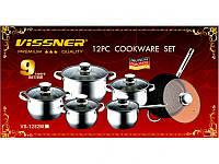 Набор посуды 12 предметов Vissner VS 1251M