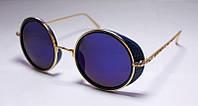 Круглые солнцезащитные очки для женщин с цветными линзами