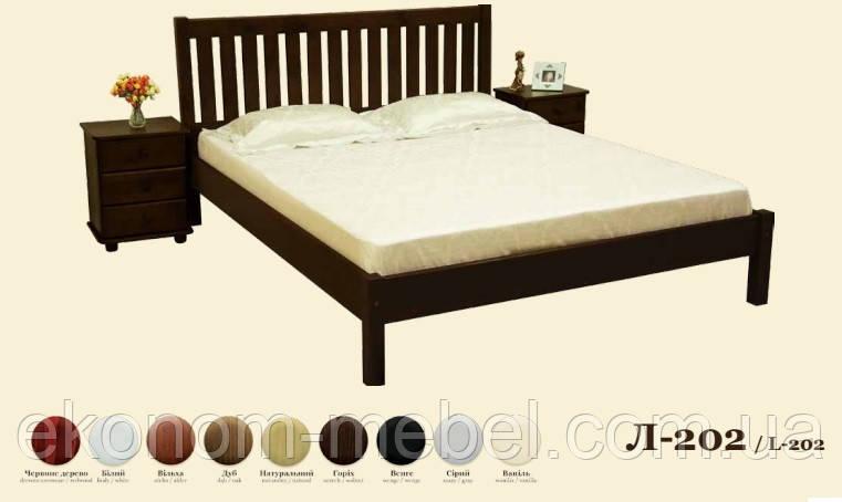 Кровать деревянная Л-202