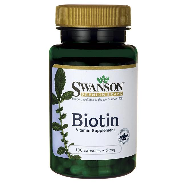 Биотин для волос Swanson Premium 5000 мкг, 100 капсул