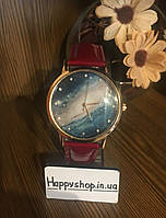 Часы женские Космос (красные)