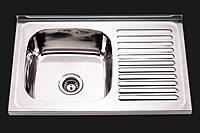 Мойка кухонная Platinum 8050 L/R_0,7 mm.Матовая накладная
