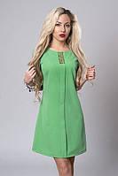 Отличное летнее платье модного фасона спереди декоративная планка