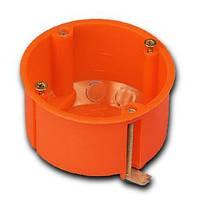 Подрозетник 60мм для гипсакартона оранжевый